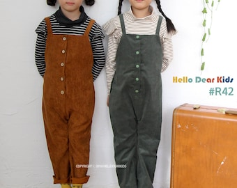 R42 / Sewing pattern / PDF sewing pattern /Strap pants with buttons /Dungaree pattern/Baby romper pattern/baby sewing patterns / 6M-8Years
