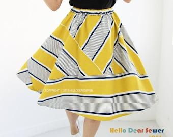 PDF Sewing Pattern Women's Knit / Jersey Top / Pocket T-shirts - Regular fit - (sizes S-L) T01