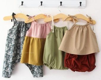 R49/ Sewing pattern / PDF sewing pattern / 4 Bundle romper and dress / Kids sewing pattern pattern / baby sewing patterns /3M~3T