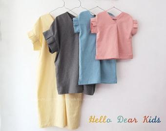 D49 /Mom and Kids pattern/Bundle sewing patterns/PDF sewing pattern/kids sewing patterns-12M-10years+Women's sewing pattern- XXS-XL