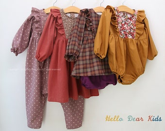 R64/ Sewing pattern/PDF sewing pattern/4 Bundle dress, romper and bloomer/Kids sewing pattern pattern/baby sewing pattern/3M~12Y