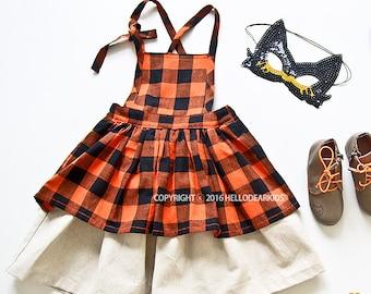 Kid's sewing pattern pdf/Toddler Kids/ Apron dress / Suspender dress /  sizes 2T to 7Years.