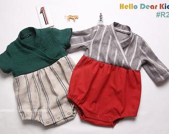 R22/ Sewing pattern / PDF sewing pattern / Lap style Romper / Baby romper pattern / baby sewing patterns / romper pattern / New born to 2T