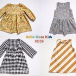 D39 / Kids Sewing pattern /PDF sewing pattern/4 Basic dress - Bundle patterns /baby sewing patterns/Toddler sewing pattern 6M-7years