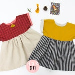 Girl's dress / baby sewing pattern pdf/ girls dress / gather dress/ children clothing/Toddler sewing pattern/ 6M-7years