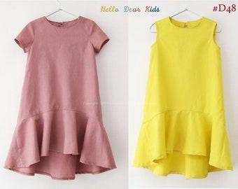 Kids Sewing pattern /PDF sewing pattern/ dress with circle hem/Bundle patterns / Toddler sewing pattern 2T-10years