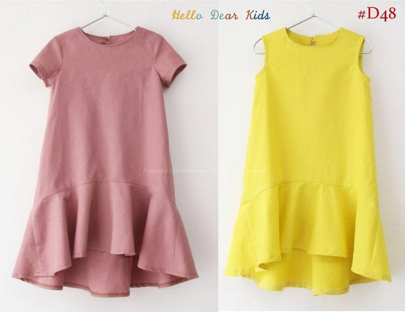 Kids Sewing pattern /PDF sewing pattern/ dress with circle image 0