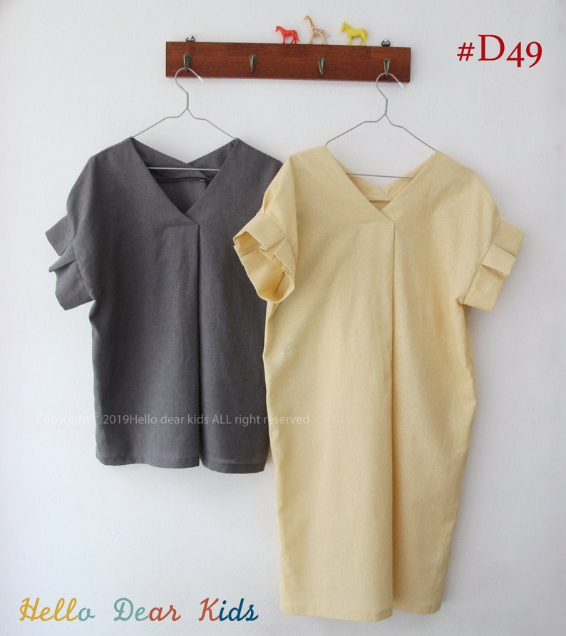Women's PDF Sewing Pattern / Blouse and  Dress with image 0