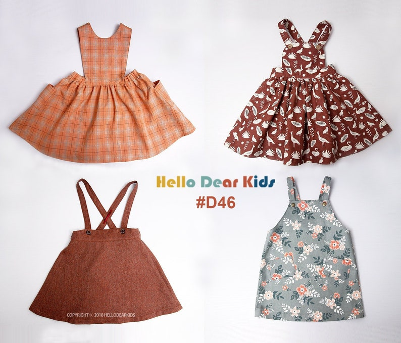 D46 / Kids Sewing pattern /PDF sewing pattern/4 Basic strap image 0