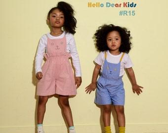 kid's sewing pattern pdf/ girl's cat suspender pants/ baby sewing pattern/ children clothing/Toddler sewing pattern/6M-7years