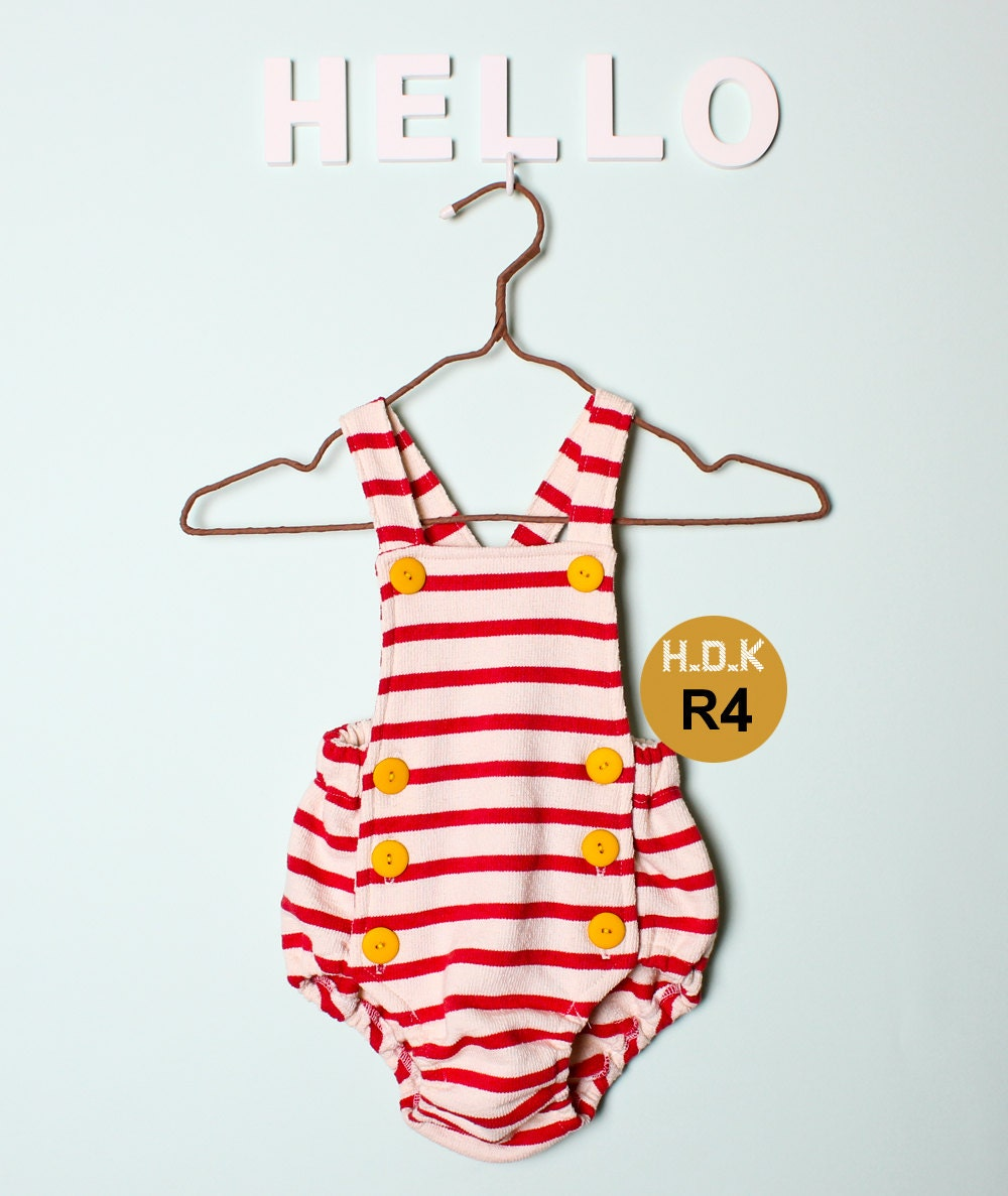 Kids Sewing Pattern Pdf Retro Baby Toddler Romper One