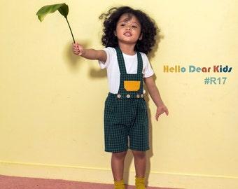 kid's sewing pattern pdf/ Short jumper pants/ baby sewing pattern/ children clothing/Toddler sewing pattern/12M-6years
