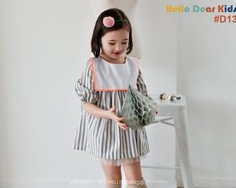 D13 PDF sewing pattern/ girl's sailor collar dress/ baby sewing pattern/ children clothing/Toddler sewing pattern/12M-6Years
