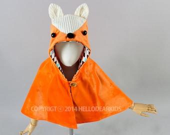 O2/Kid's sewing pattern pdf/ fox cape/ fox manteau/kids costume/halloween costume /children clothing/2T-6Years