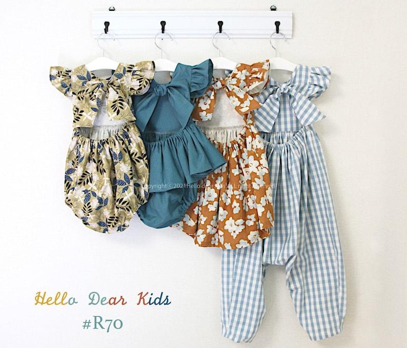 R70/ Sewing pattern/PDF sewing pattern/4 Bundle  dress image 1