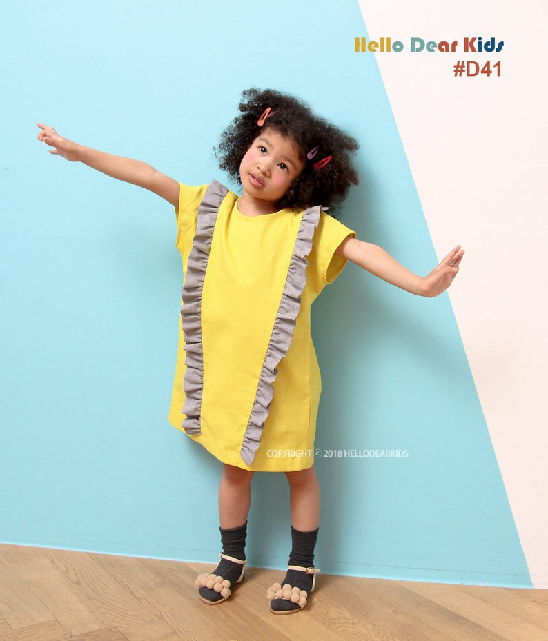 D41/Sewing pattern /PDF sewing pattern/Dress with image 0
