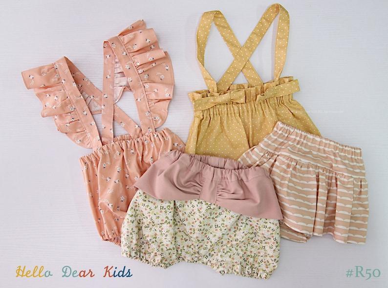 R50/ Sewing pattern / PDF sewing pattern / 4 Bundle bloomer / image 0