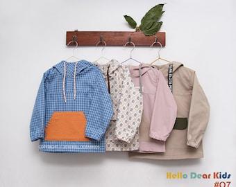 O7/Sewing pattern/PDF sewing pattern/A0 size included/ Kids anorak/kids jumper pattern/kids sewing patterns/kids sewing patterns/2T-7Years