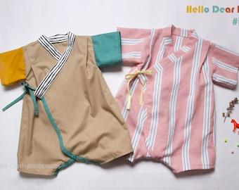 R33/ kids sewing pattern pdf, Baby Kimono Romper, Baby Onesie , kids romper, baby suit, Sizes-3M to 3T /R33