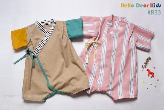 kids sewing pattern pdf Baby Kimono Romper Baby Onesie
