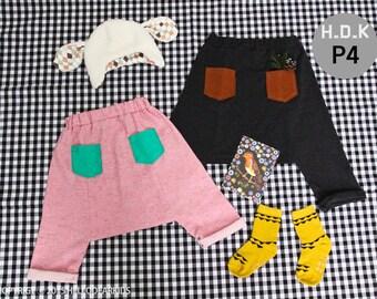 baby sewing pattern pdf/ kids harem pants/ kids baggy pants/ children clothing/Toddler sewing pattern/ 12M-12years