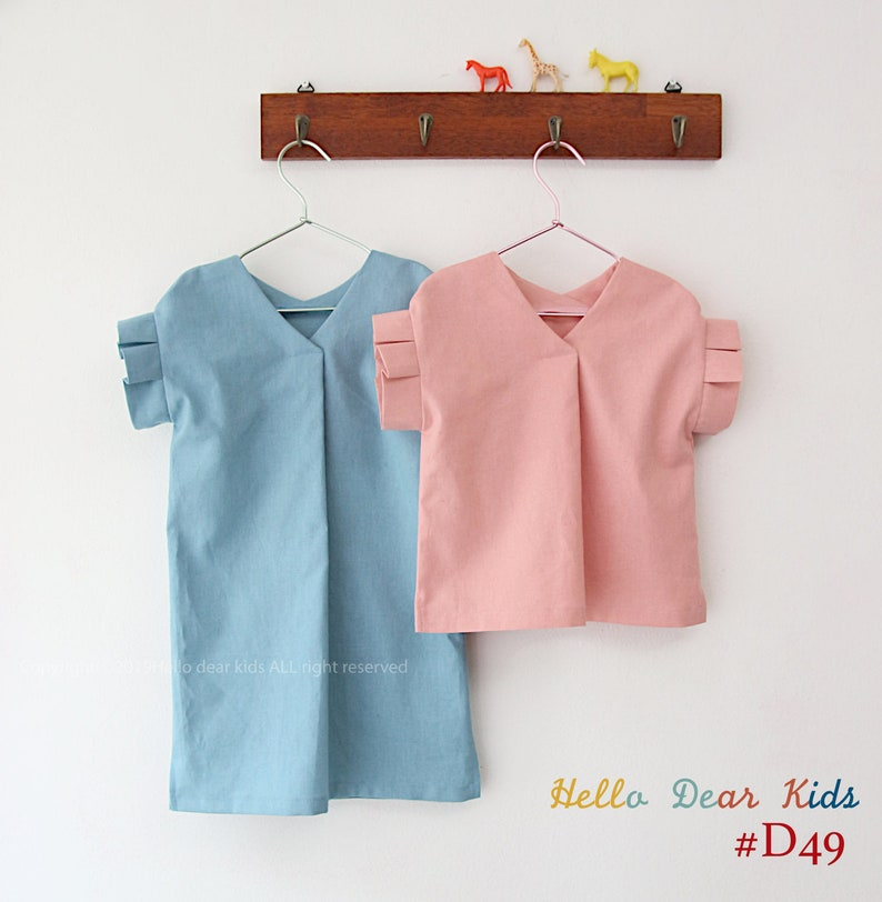 Kids Sewing pattern /PDF sewing pattern/ Blouse and dress with image 0