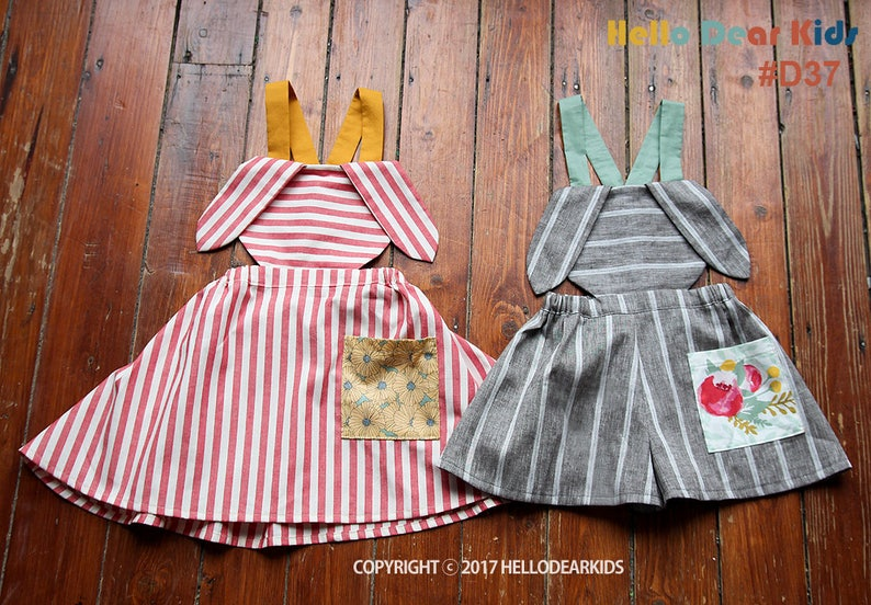 D37/Sewing pattern /PDF sewing pattern / Suspender pants and image 0