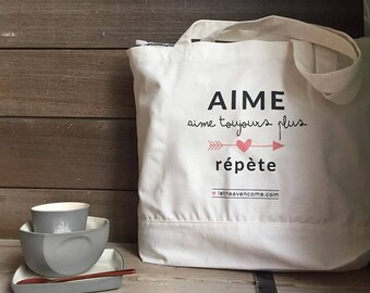 Aime & Je t'aime - TOTE BAG - high quality 100% coton