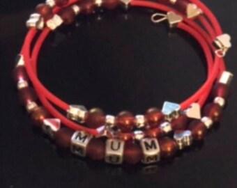 Red Mum Bracelet
