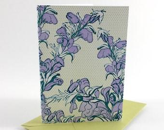 Thorn Flower | Letterpress Card | single blank greeting card with envelope | floral letterpress greeting card
