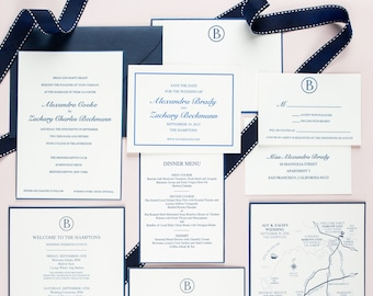 Letterpress Wedding Invitation | Monogram Wedding Invitation | Modern Wedding Invitations | Classic Wedding Invitations