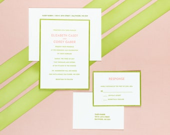 Letterpress Wedding Invitation Suite | Traditional Wedding Invitation Suite | Modern Wedding Invitations