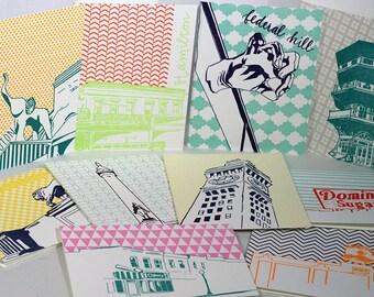 Baltimore Letterpress Card Neighborhood mix pack | ten Baltimore neighborhood blank cards with envelopes