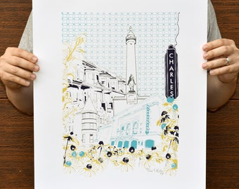 "Baltimore Maryland | Art of the City | Limited Edition Silk Screen 16"" x 20"" poster"