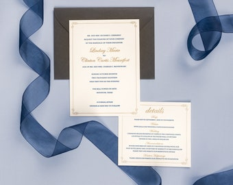 Letterpress Wedding Invitation Suite | Traditional Wedding Invitation Suite | Simple Wedding Invitations