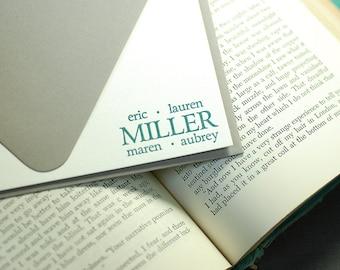 Letterpress Correspondence Card   Family Stationery   Letterpress Family Correspondence Card