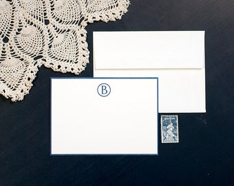 Personalized Letterpress Stationery | Custom Monogram Stationery | Modern Monogram Wedding Stationery | Letterpress Correspondence Card