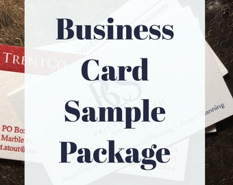 Business Cards SAMPLE PACKAGE | Letterpress Business Cards | Custom Business Logo Business Card | Digitally Printed Business Cards