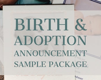 Birth Announcement SAMPLE Package | Adoption Announcement | Photo Announcement | Custom Birth Announcement | SAMPLE PACKAGE