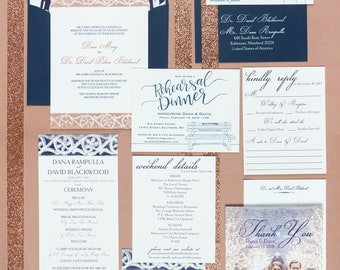 Letterpress Wedding Invitation Suite | Modern Wedding Invitation Suite | Classic Wedding Invitations