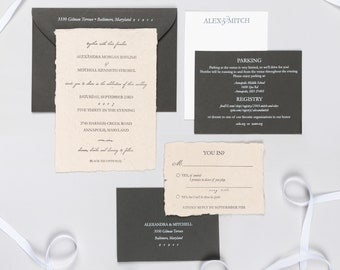 Letterpress Wedding Invitation Suite | Traditional Wedding Invitation Suite | Classic Wedding Invitations