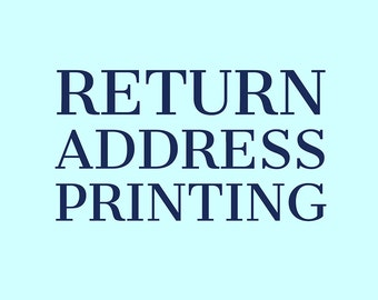Return Address Printing Add-On Service