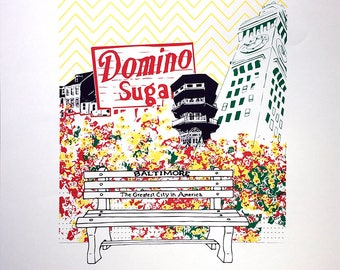 """Baltimore City Silk Screen Poster 