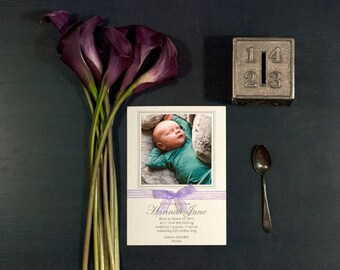 Letterpress Birth Announcement | Letterpress Adoption Announcement | Photo Birth Announcement | Medium Announcement