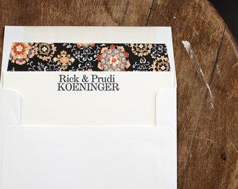 Letterpress Stationery | Family Correspondence Card |  Custom flat note card | Personalized Stationery