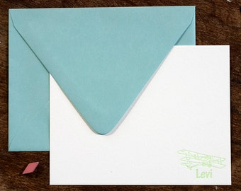Personalized Kid Stationery | Digitally Printed Stationery | Correspondence Card | Flat Stationery Card