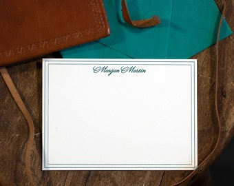 Letterpress Stationery | Custom Stationery | Letterpress Correspondence Card | Personalized Letterpress Flat Card