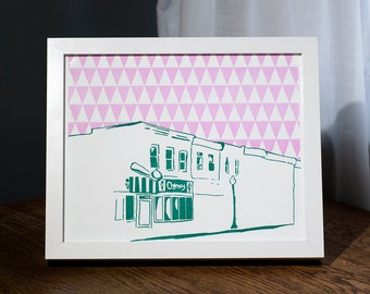 "Baltimore City Letterpress Poster | Charmery ice cream shop | 8"" x 10"" poster"