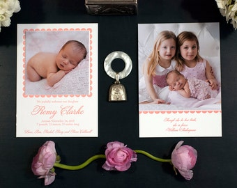 Letterpress Birth Announcement | Letterpress Adoption Announcement | Photo Announcement | Custom Birth Announcement | LARGE Announcement