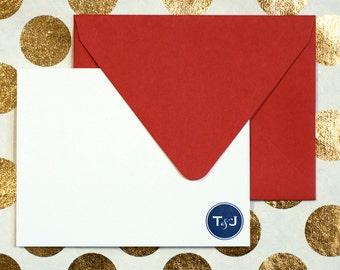 Letterpress Stationery | Simple Monogram Stationery | Letterpress Wedding Stationery | A2 Size Letterpress Correspondence Card